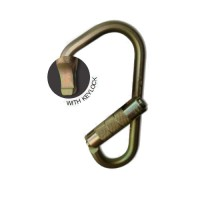 Steel Ladder Hook: Twist Lock: Gold
